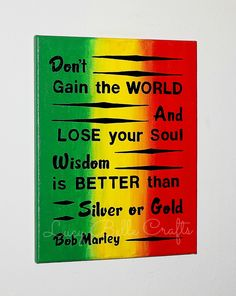 100% Hand Painted Bob Marley Quote with Customized Background on an 11x14 Canvas by Lucy Belle Crafts www.facebook.com/LucyBelleCraftsOnEtsycom