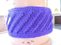 Hand Knitted Purple Sparkle Headband Ear Warmer £3.00