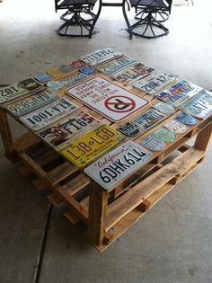 License Plate Furniture   Google Search | License Plates | Pinterest | License  Plates And Industrial