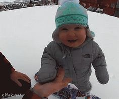 video:  One-Year-Old Snowboarder Hits the Slopes... | Animated Gifs