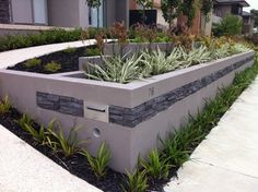 Absolutely gorgeous rendered retaining wall