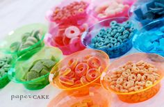 DIY candy necklace party favors - great fun for the kids and mom too