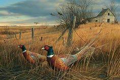 Memory Lane-Pheasants Artist Proof by Jim Hautman : Wild Wings