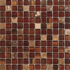 Glass Mosaic Tile Toasted Red for bathrooms walls and floors, shower, kitchen backsplash, feature walls, spas, jacuzzi, and swimming pool. Samples available!