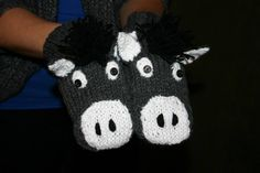 Donkey mittens (6 years and up) $20 - Contact lcosta@andrewswireless.net to purchase