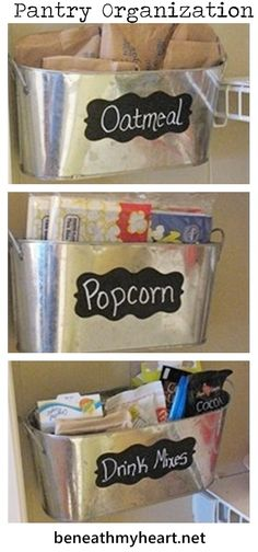 Great idea to use the wall space in your pantry for storage!