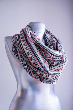 Handmade Ethnic Infinity Scarf
