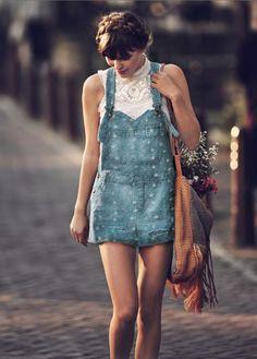 salopette jeans a pois |outfit pois | abito a pois | come abbinare i pois | ispirazioni pois