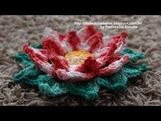 ▶ Flor Natalina em Crochê Parte-1 - YouTube