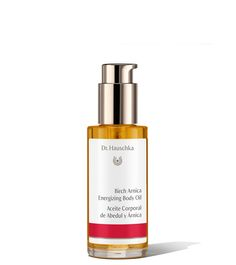 """Dr. Hauschka's Birch Arnica Energizing Body Oil: """"The birch leaf and arnica extracts promote blood circulation to soothe and warm tired muscles, while sunflower seed and jojoba oils replenish moisture levels."""""""