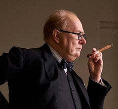 Gary Oldman as Churchill in Darkest Hour, opening December 29.