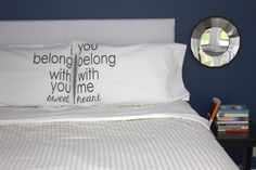 Lumineers Hey Ho Pillowcase I Belong With You Pillow His and Hers Pillowcase