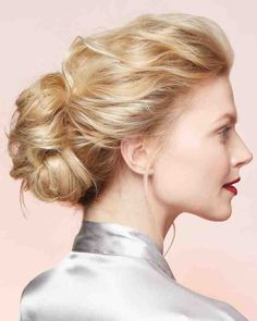Severe, shellacked wedding hair is stay-proof but not exactly pretty. Here's a great way to relax the classic updo.