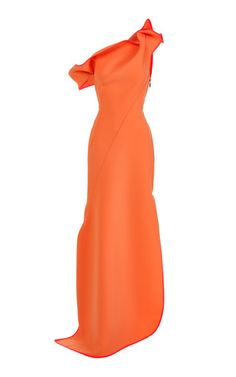 Get inspired and discover Maticevski trunkshow! Shop the latest Maticevski collection at Moda Operandi. Off Shoulder Gown, One Shoulder, Gowns Of Elegance, Elegant Gowns, Evening Dresses, Prom Dresses, Side Slit Dress, Crop Top Shirts, Orange Dress