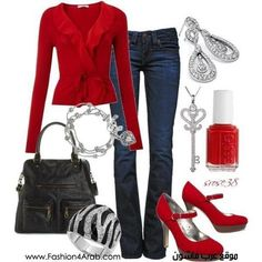 Red: especially love the red shoes