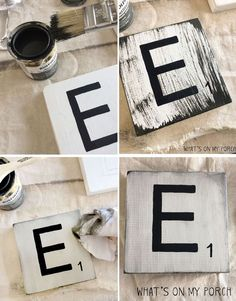 Woodworking Projects How to make Scrabble inspired tiles for your wall - Make Your Own Over-Sized Letter Tiles Wall Decor Hubby and I are recently empty-nesters. Well, not exactly. Our older daughter has m.
