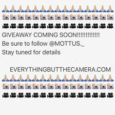 #giveaway coming soon!! Be sure to follow @mottus._  for more details! by everythingbutthecamera