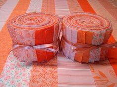 Orange Jelly Roll   Quilt Fabric Strips  SEW FUN by SEWFUNQUILTS, $17.75