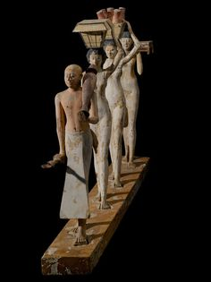 "Model of a procession of offering bearers (""The Bersha Procession""), Egypt, c. 2010-1961 BC; Museum of Fine Arts Boston"