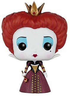 From the live action movie Alice in Wonderland Queen of Hearts as a stylized POP vinyl from Funko! Figure stands 3 3/4 inches and comes in a window display box. Check out the other Alice in Wonderla...