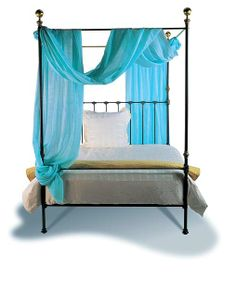 To buy: Iron Bed Style 151 - Queen complete bed probably in the midnight finish with distressed cannonballs