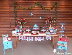 Chá de Panela - Corações Vermelho e Azul