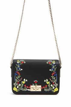 7d143e1206d1 FOREVER 21 Embroidered Faux Leather Crossbody Classy Chic, Purses And  Handbags, Backpack Bags,