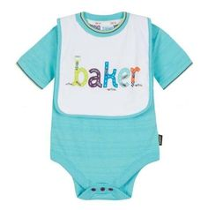 098d856d8 Ted Baker Baby Boys Romper Vest Bodysuit Bib Green Designer 12-18 Months