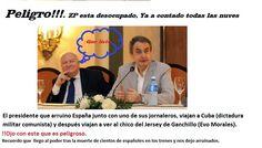 fotografias cachondas: Zapatero en cuba. ZP viaja a cuba Cuba, Presidents, Military Dictatorship, Funny Pictures, Funny, Fotografia