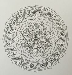 Love blend in compassion Mandala black and white - earth ...