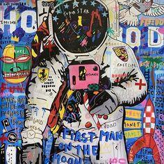 Pop Art Wallpaper, Graffiti Wallpaper, Artistic Wallpaper, Graffiti Art, Illustration Pop Art, Art Du Collage, Tableau Pop Art, Urbane Kunst, Pop Art Posters