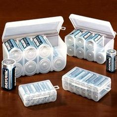 #6: BATTERY STORAGE CASE SET (4PC SET FOR ALL OF YOUR BATTERY STORAGE NEEDS!)