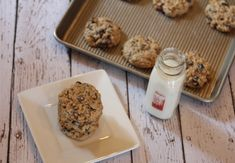 These flourless oatmeal cookies are thick and delicious. Add raisins and/or chocolate to make them even better.