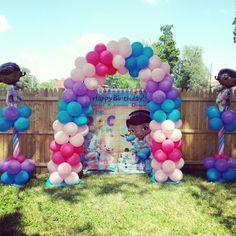 Doc Mcstuffins Balloon Decor