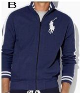 Polo Ralph Lauren Men Full Zip Track Big Pony Jacket Navy
