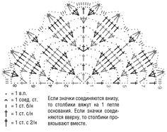 Треугольный платок из мохера