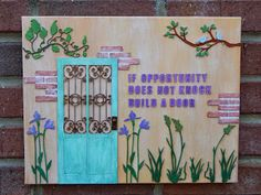 If opportunity does not knock just build a door and make things happen for yourself #whimsytouches.