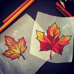 "Fall flash ideas ^_^ available to tattoo! Message me on Facebook ""Tattoos by…"