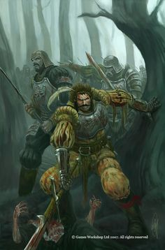 AMBUSH by kingmong. DeviantART    This is the cover for the WarHammer : Forge of War issue 2. The Empire Greatsword Vigo, unwittingly leads his surviving band of soldiers into an ambush. Now they must fight their way out.