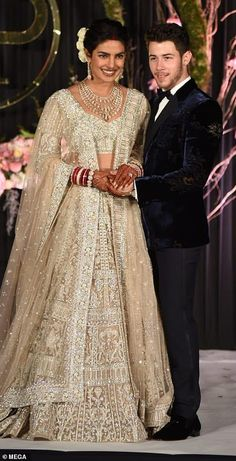 Priyanka Chopra and Nick Jonas' Magical Wedding Celebration Continues - TMZ Nick Jonas, Desi Bride, Celebrity Couples, Celebrity Weddings, Celebrity Gossip, Priyanka Chopra Wedding, The Way He Looks, Bridal Gowns, Wedding Dresses