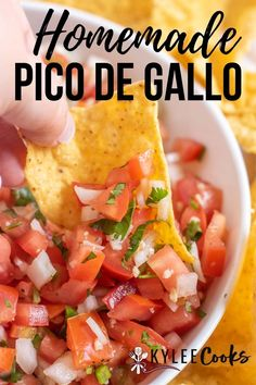 Pico de Gallo is a classic Mexican inspired salsa, using tomato, onion, cilantro, jalapeno and limes. A little salt and pepper and dig in! Best Appetizer Recipes, Healthy Appetizers, Mexican Food Recipes, Vegetarian Recipes, Great Recipes, Cooking Recipes, Favorite Recipes, Healthy Recipes, Ethnic Recipes