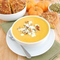 Harvest Pumpkin Soup by sweetpeaskitchen #Soup #Pumpkin