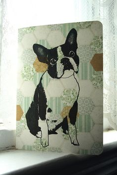 Boston Terrier note card