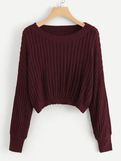 To find out about the Drop Shoulder Ribbed Sweater at SHEIN, part of our latest Sweaters ready to shop online today! Plus Size Sweaters, Casual Sweaters, Girls Sweaters, Sweaters For Women, Sweater Outfits, Fall Outfits, Casual Outfits, Fashion Outfits, Ribbed Sweater