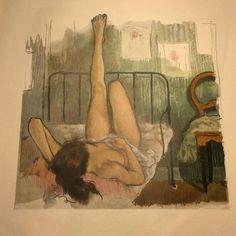 HOS POLSKE KATE af Ib Andersen. Tegning ( plakat ) udgivet i 1960 fra Politikkens magasin. Mål: 52 x 40 cm. Pris : 125 kr. ( + 52 kr hvis skal sendes. ) #plakat #tegning #ibandersen #vægdekoration #decor #billedvæg #kreativboligstyling #secondhandstuff #secondhandshop #tingfinderiet #900m2 #blandetlandhandel #viharnæstenalt #håndplukketgenbrug  #viharkunåbenefteraftaleindtil11februar