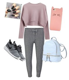 """School day"" by lolitshanna on Polyvore featuring Zoe Karssen, Chicnova Fashion, NIKE, MICHAEL Michael Kors and Kate Spade"