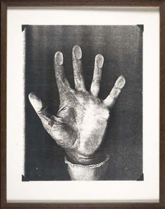 Bruce Conner -Photographic Copy of the Right Hand of Bruce Conner, 1974