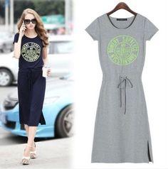 Fashion Woman's Summer Cotton Blend Dress Casual Sport Long A116 Dress Sz S-XXL #other #Sundress #Casual