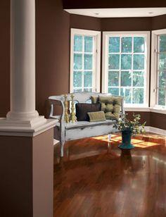 Create an elegant look using Polished Mahogany (SW 2838).