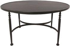 Laurel Slat-Top Coffee Table - Outdoor Lounge Furniture - Outdoor Coffee Table | HomeDecorators.com